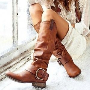Steve Madden Frienzzi boots tall brown leather 6